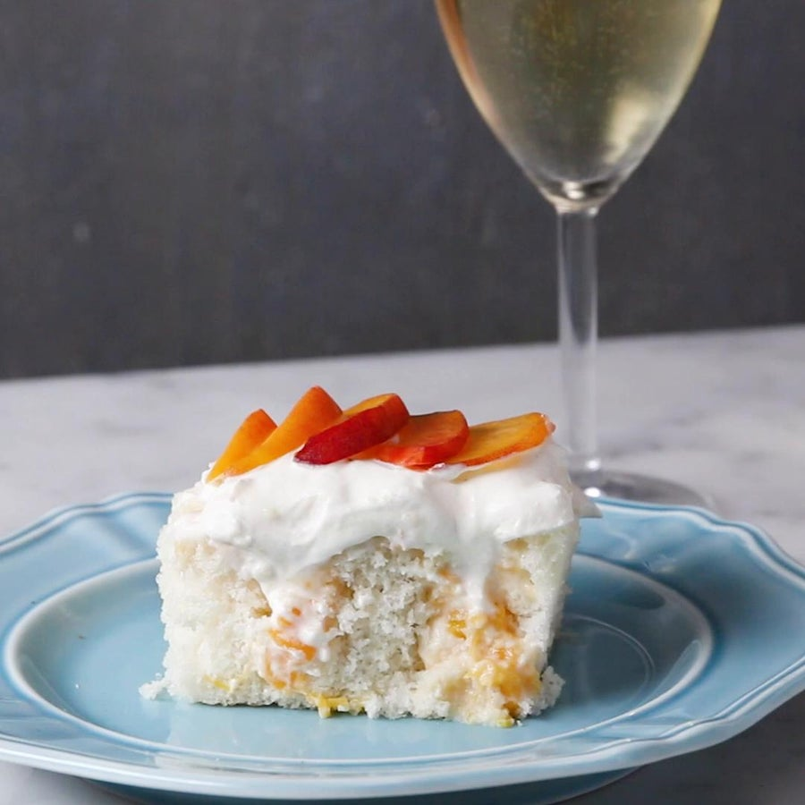 Peaches 'N' Cream Poke 'Box' Cake
