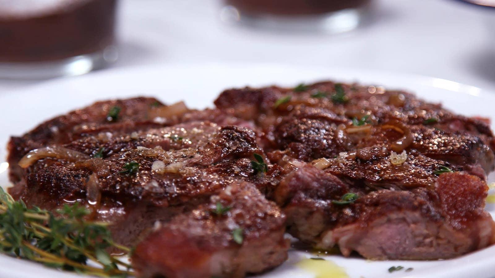 Seared New York Strip Steak
