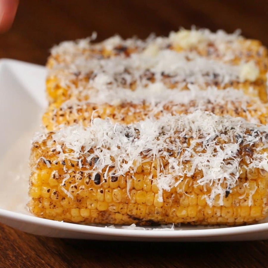 Garlic Parmesan Grilled Corn