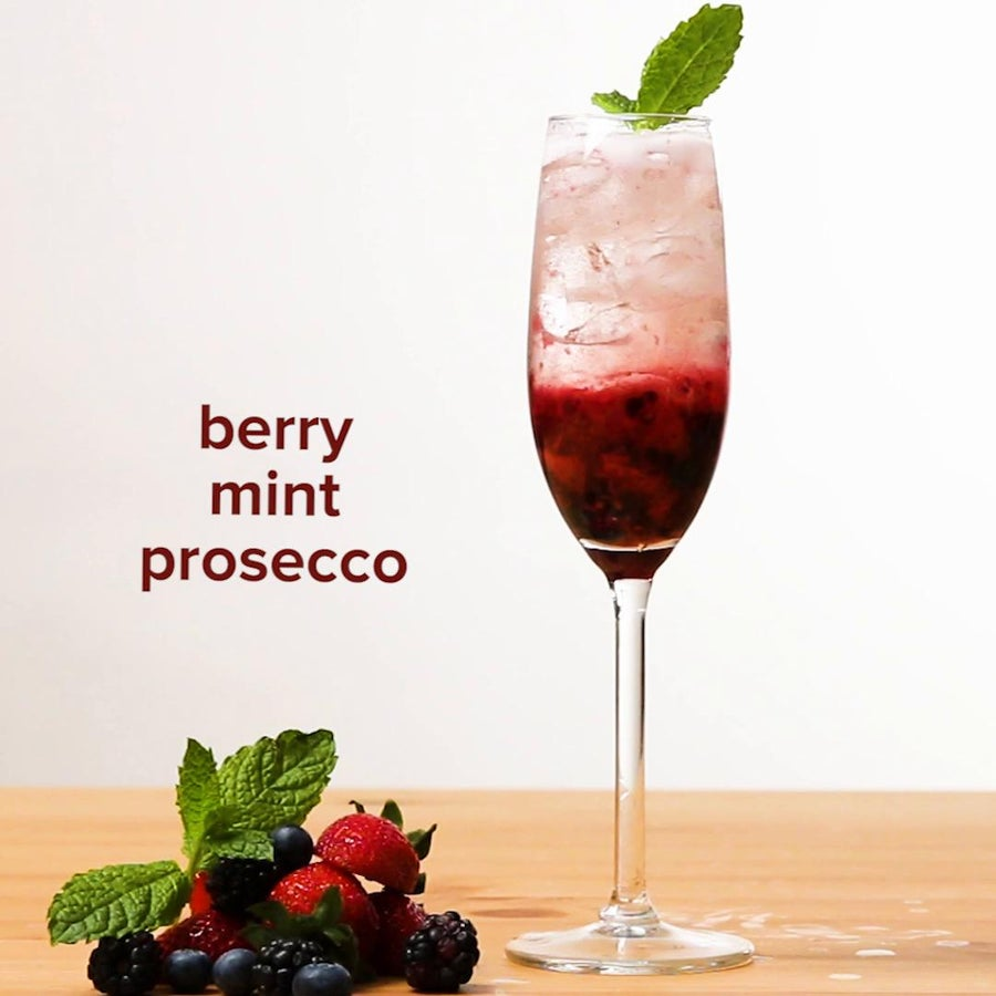 Summer Fruit And Mint Prosecco