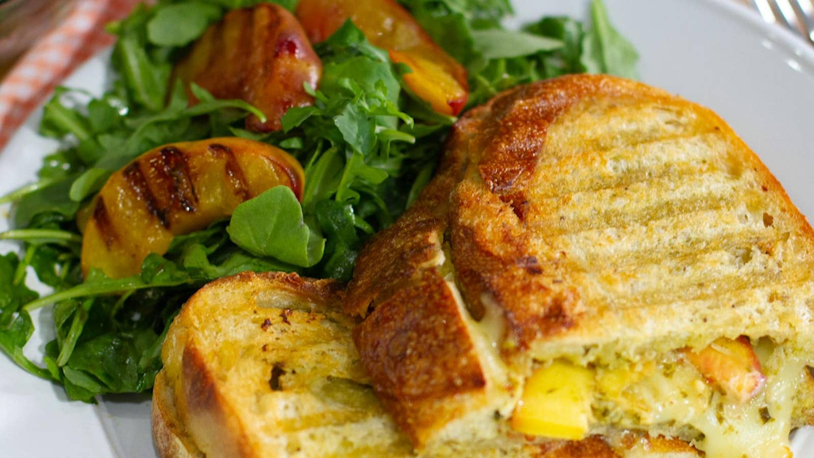 Grilled Peach Panini