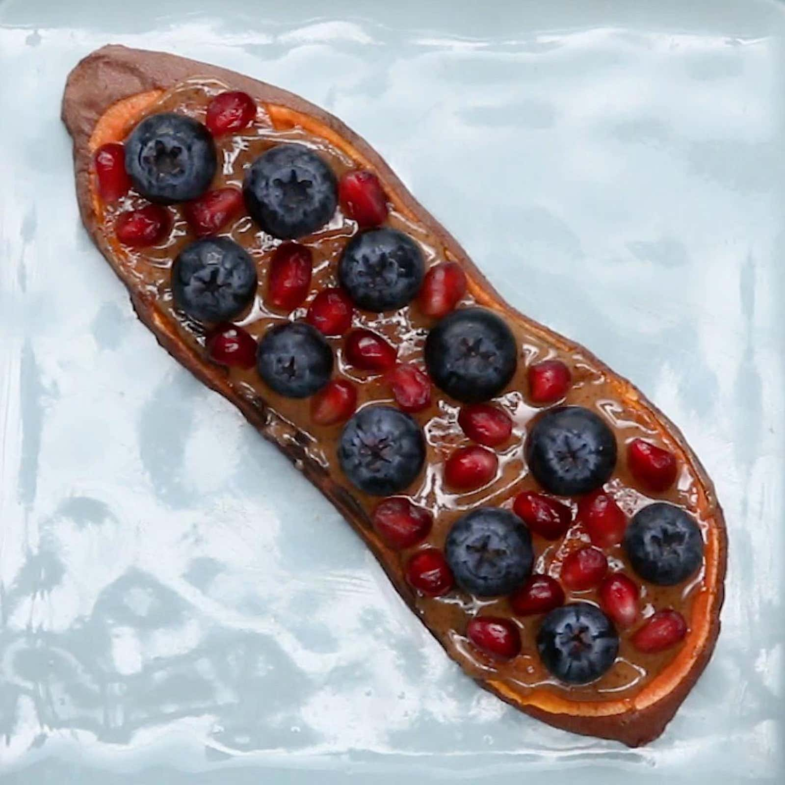 Almond Butter & Fruit Sweet Potato Toast