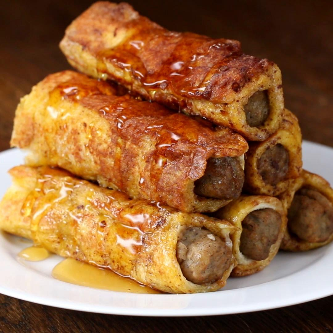 How to Make French Toast Sausage RollUps