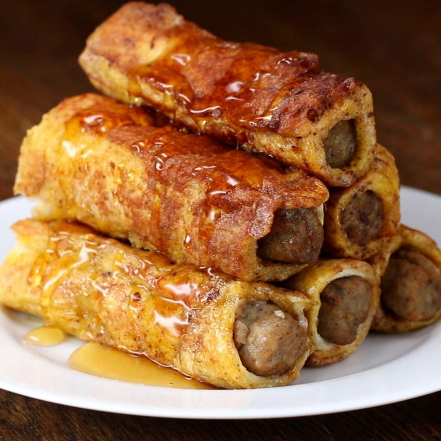 Sausage French Toast Roll-up