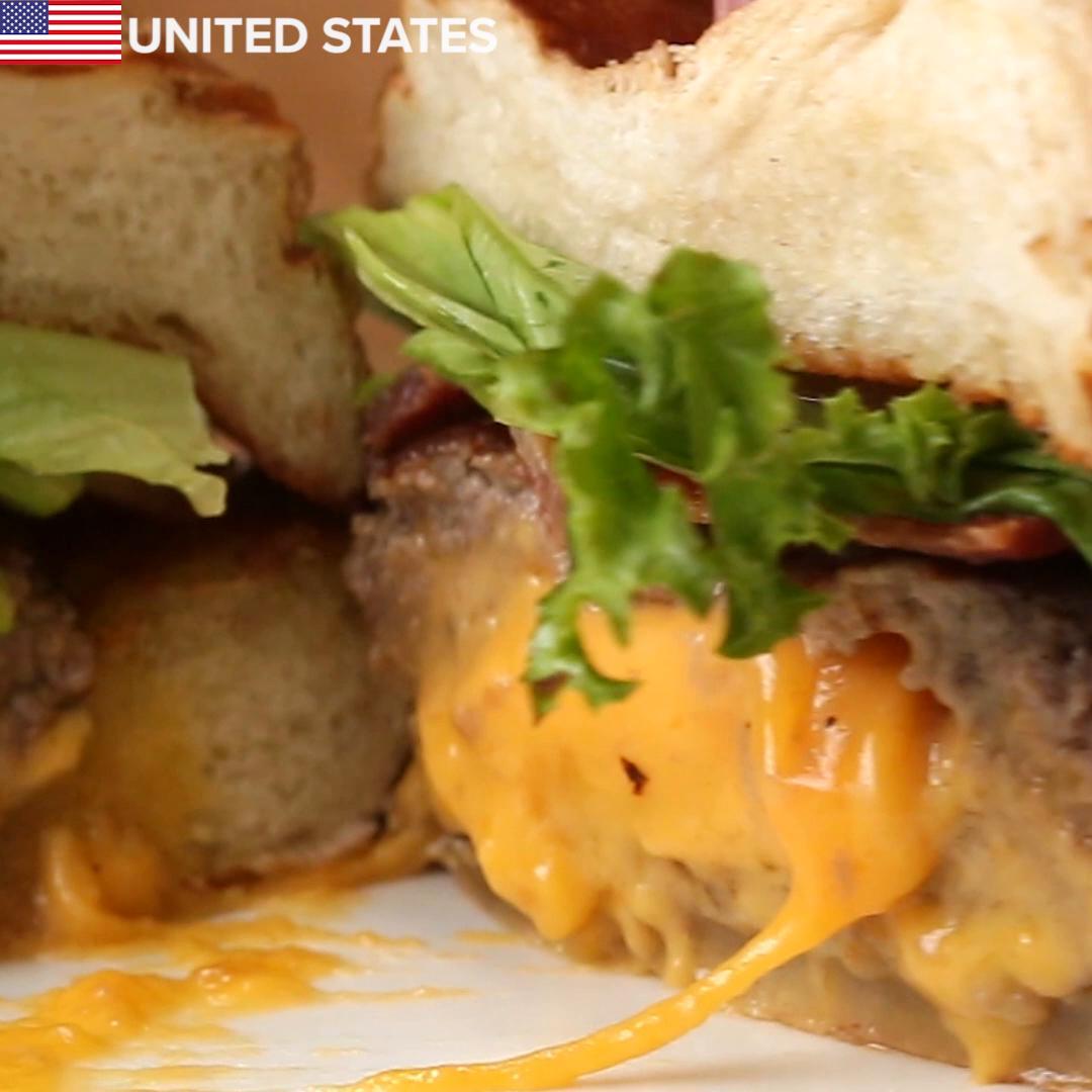 Znalezione obrazy dla zapytania Mexican Chorizo Burger tasty 4 burgers around the world