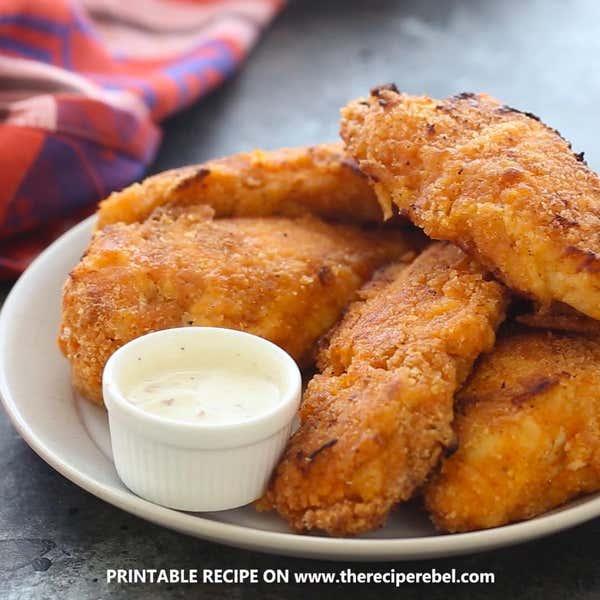Cheddar Ranch Chicken Strips Recipe By Tasty