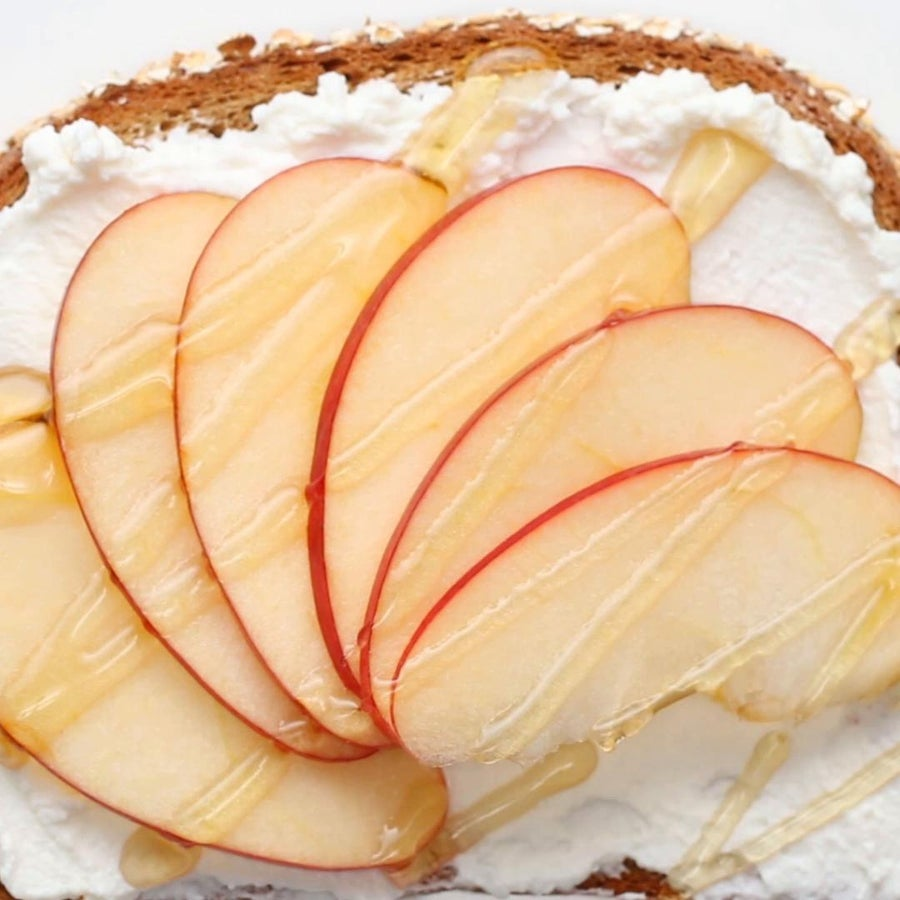 Ricotta And Apple Toast