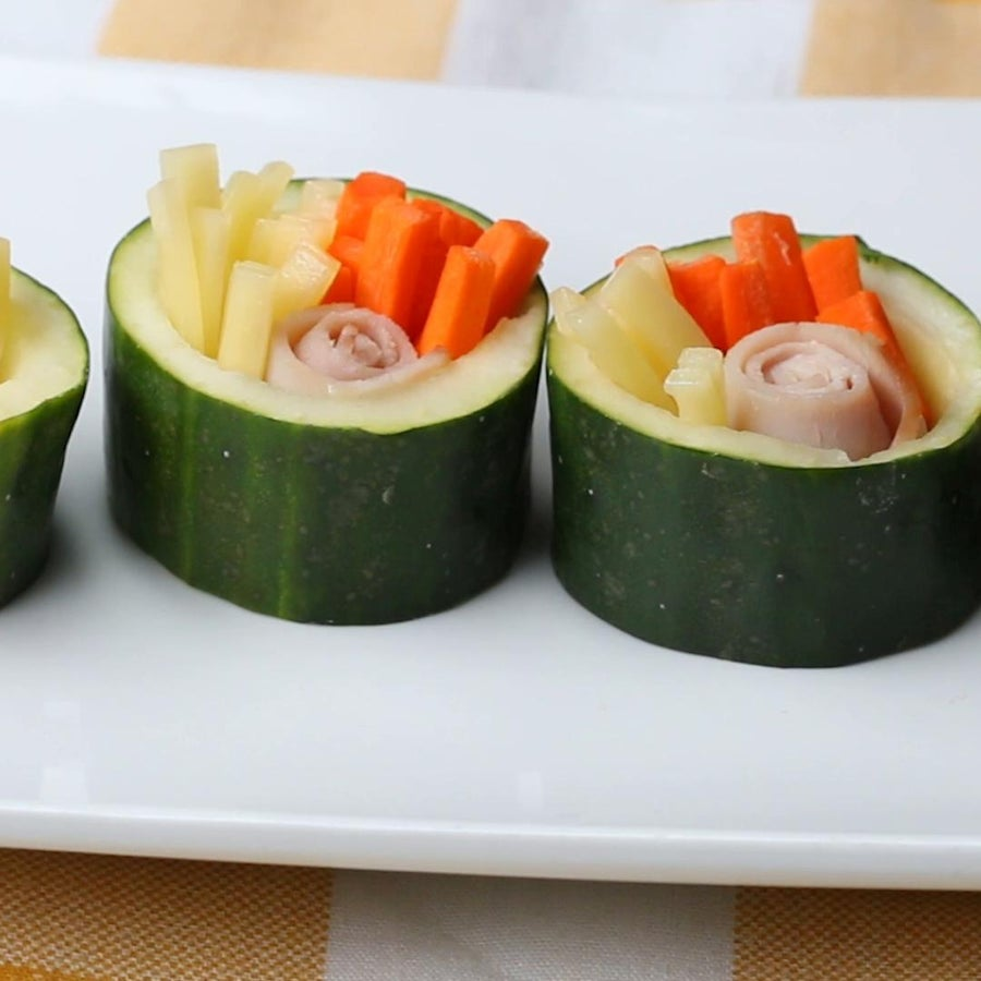 "Ham & Cheese Cucumber ""Sushi"""