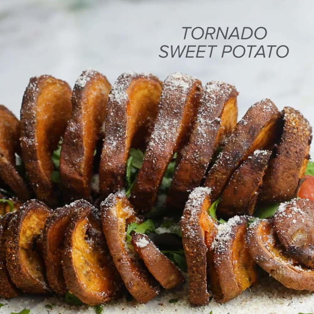 Yam Receipe: Tornado Sweet Potato Recipe By Tasty