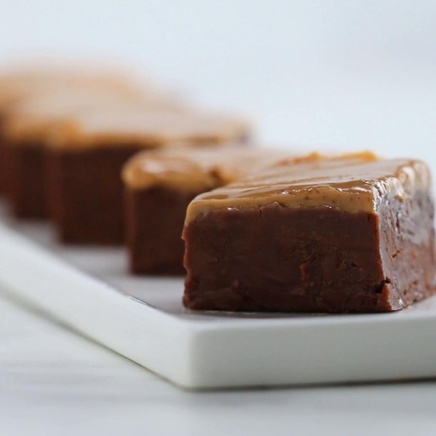Peanut Butter Chocolate 3-ingredient Fudge