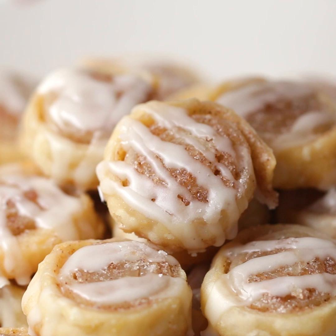 Mini Cinnamon Roll Cookies Recipe By Tasty