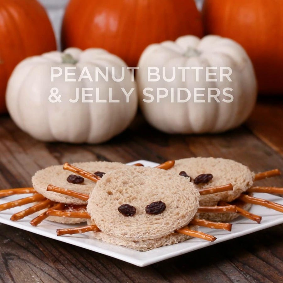 Peanut Butter & Jelly Spiders