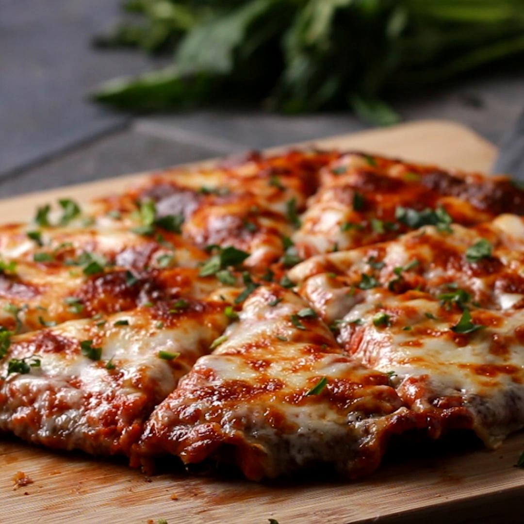 Chicken Parm Pizza Recipe By Tasty