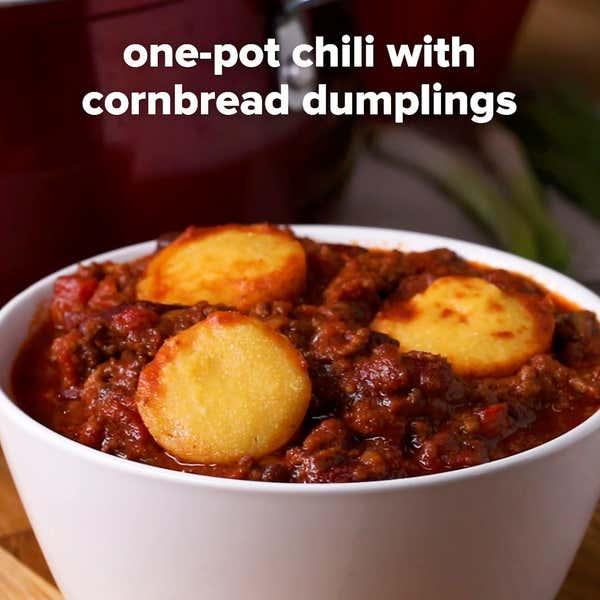Chipotle Chili And Cornbread Dumplings Recipe By Tasty
