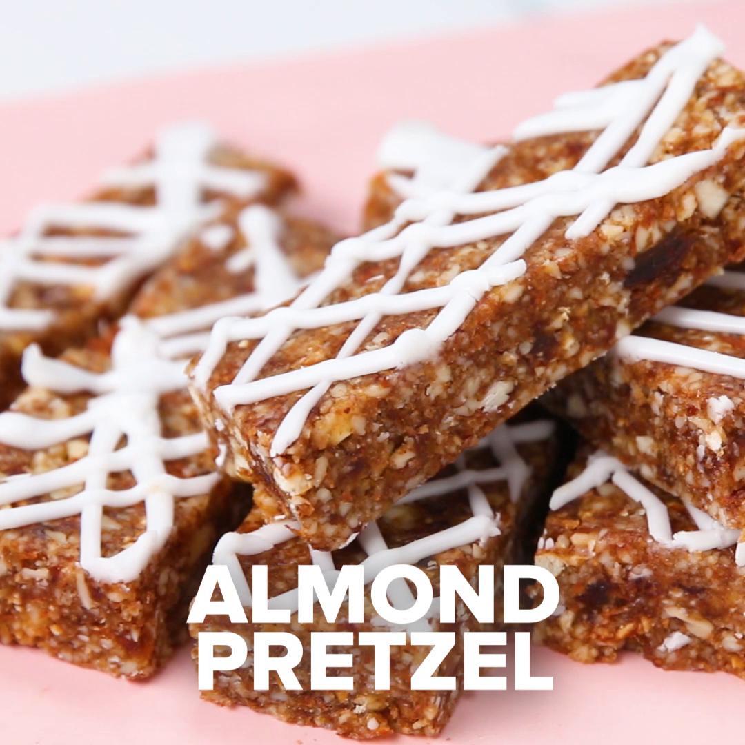 Imagini pentru Almond Pretzel Bars