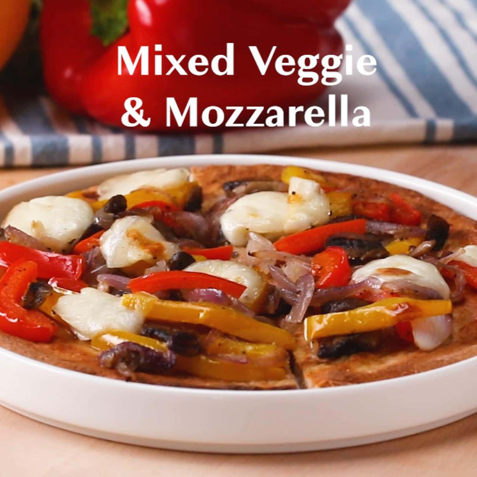 Mixed Veggie And Mozzarella Flatbread