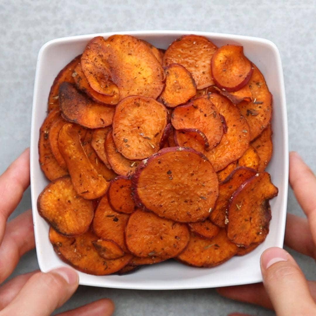 Sweet Potato Chips Recipe By Tasty