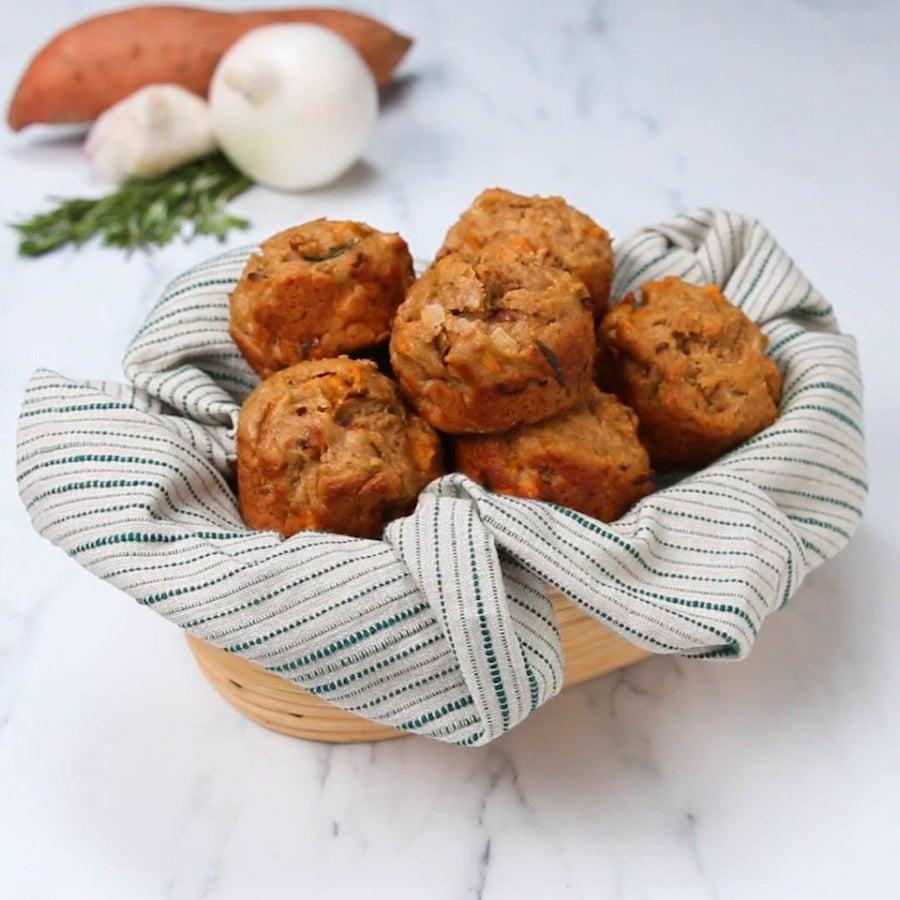 Rosemary Sweet Potato Muffins