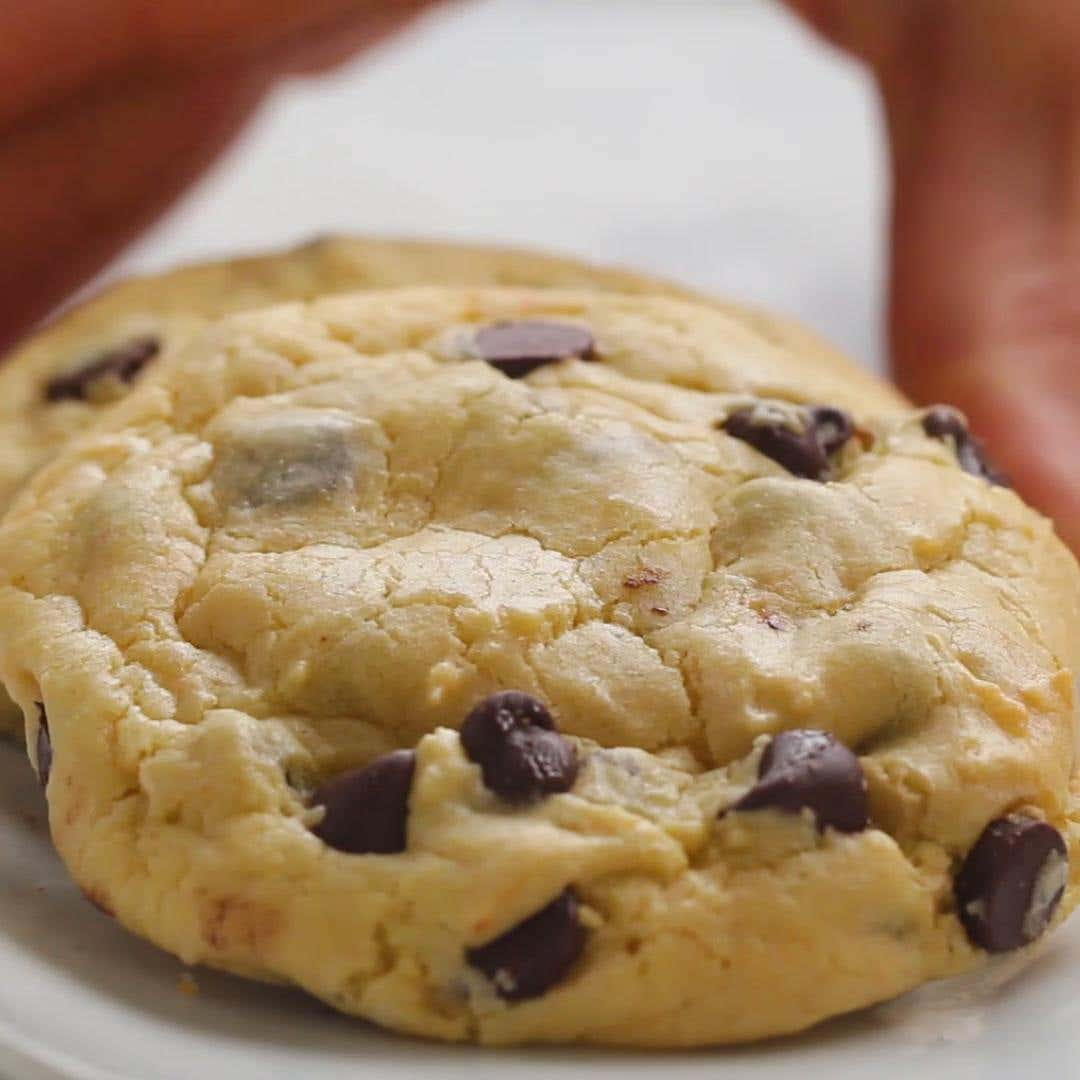 Chocolate Chip Cake Mix Cookies Recipe By Tasty