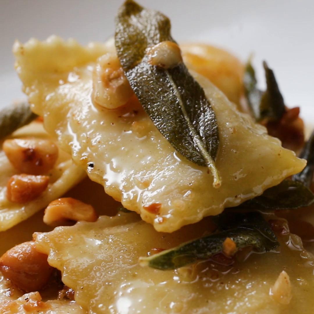 Easy Butternut Squash Ravioli (tasty.co)