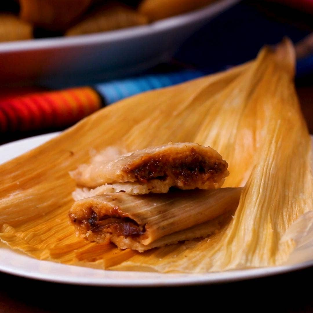 Mexican Red Pork Tamales As Made By