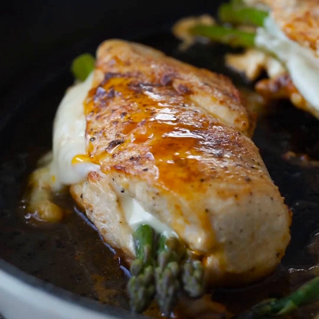 Asparagus Stuffed Chicken Breast Recipe By Tasty