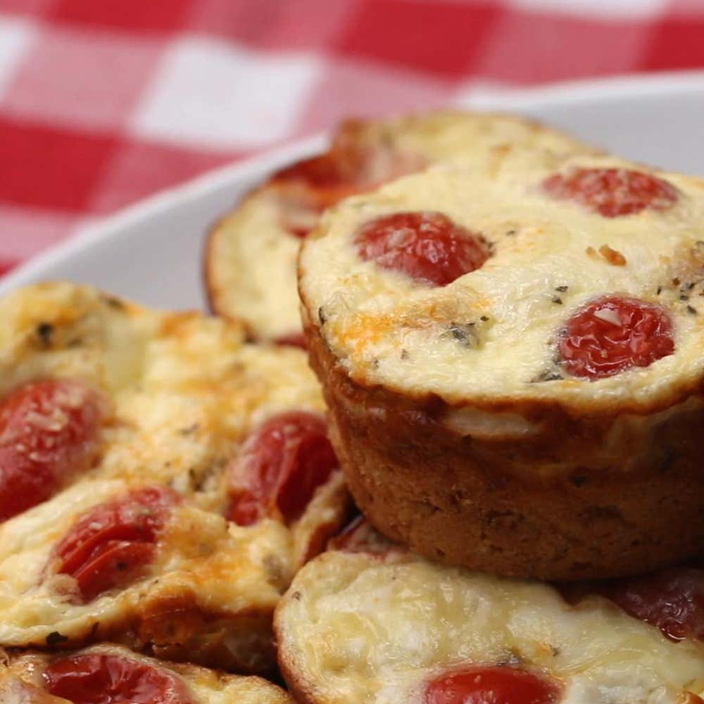 Pizza muffins recipe by tasty by betsy carter from the video 4 recipes using pancake mix ccuart Image collections