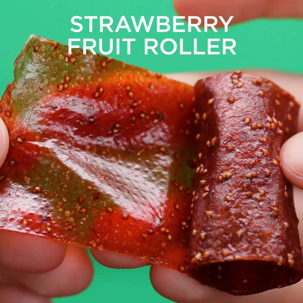 strawberry fruit rollers recipe by tasty