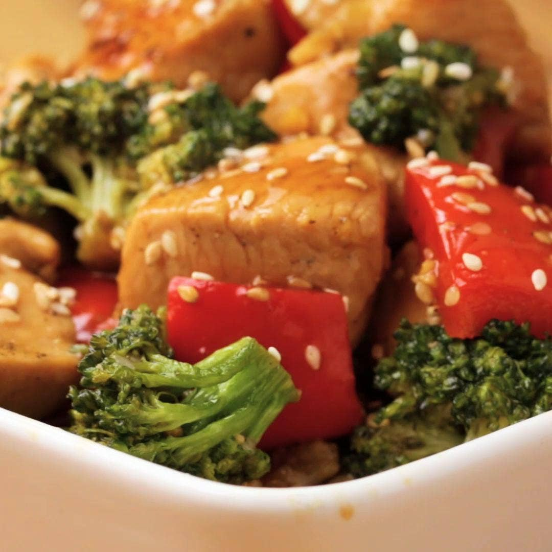 One Pan Chicken And Broccoli Stir Fry Recipe By Tasty