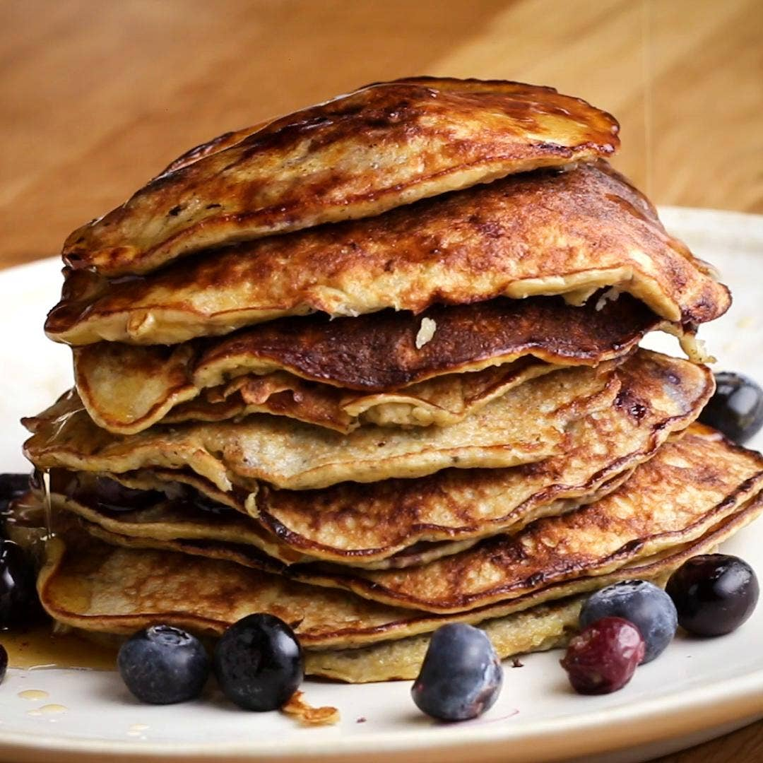 Blueberry Banana Pancakes Recipe By Tasty