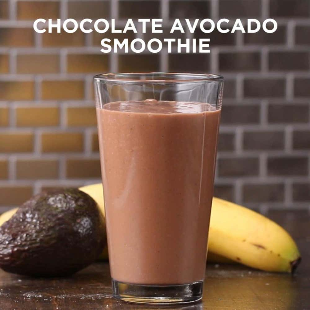 3 Ingredient Chocolate Avocado Smoothie Recipe By Tasty