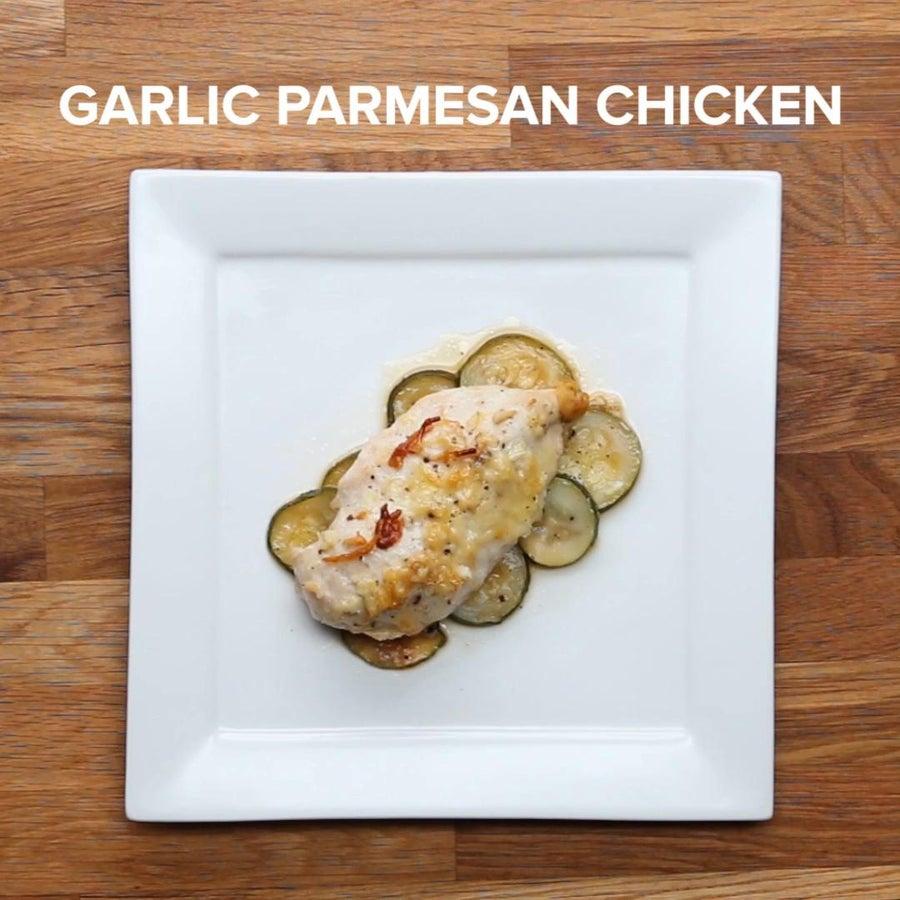 Garlic Parmesan Parchment-baked Chicken