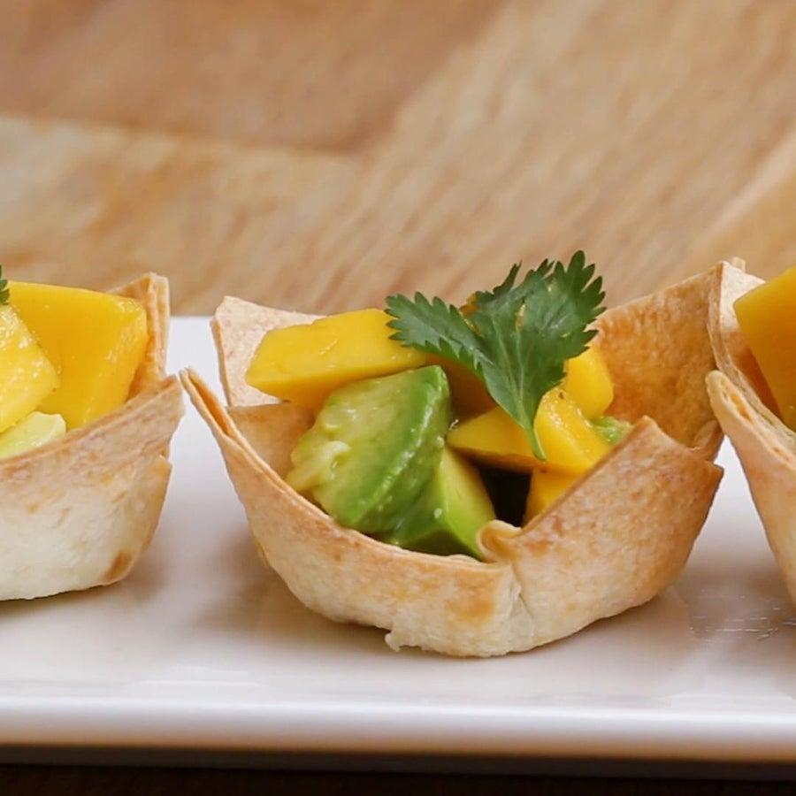 Mango Avocado Taco Cups