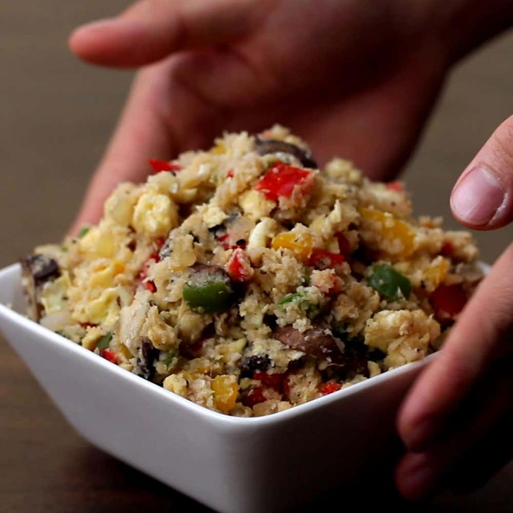Veggie cauliflower fried rice recipe by tasty by alvin zhou from the video cauliflower fried rice 4 ways ccuart Image collections