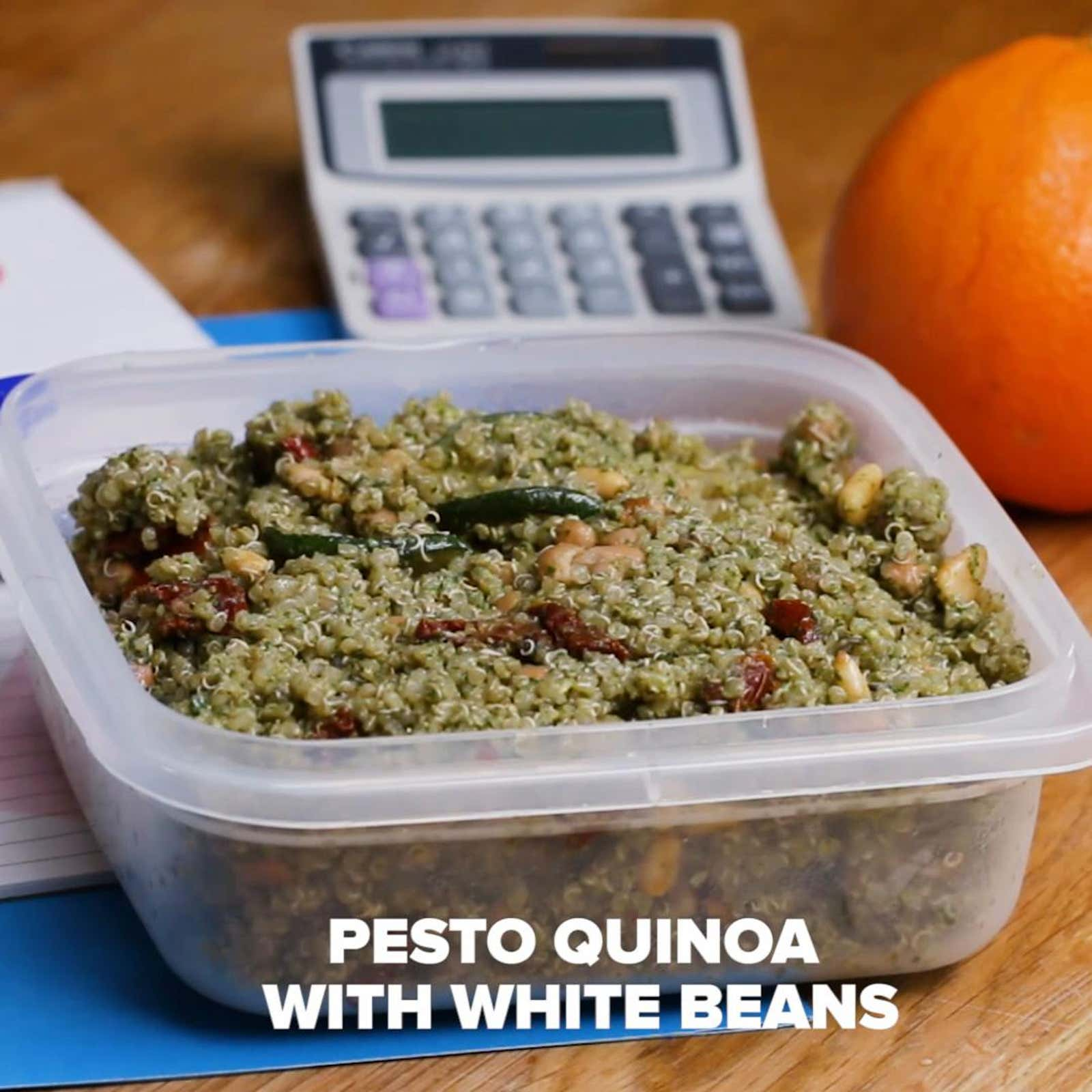 Pesto Quinoa With White Beans