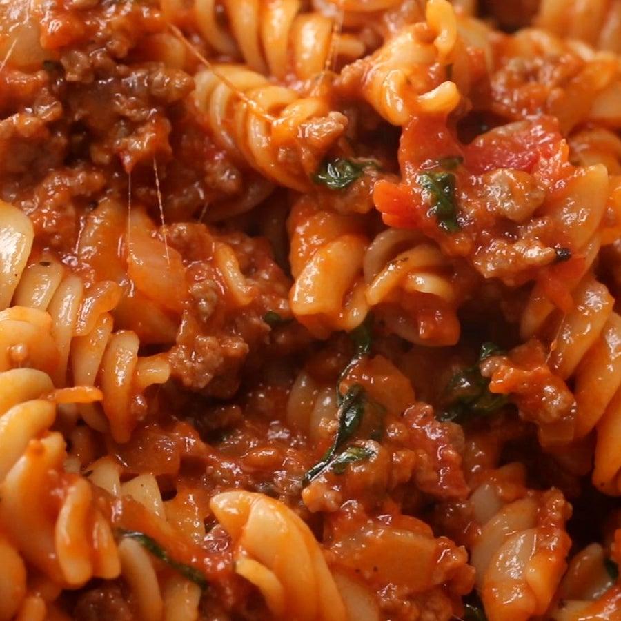 Chorizo Tomato Rotini Pasta