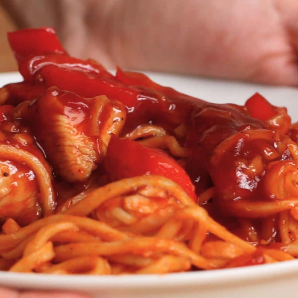 Sweetandsour Chicken Noodles Recipe by Tasty