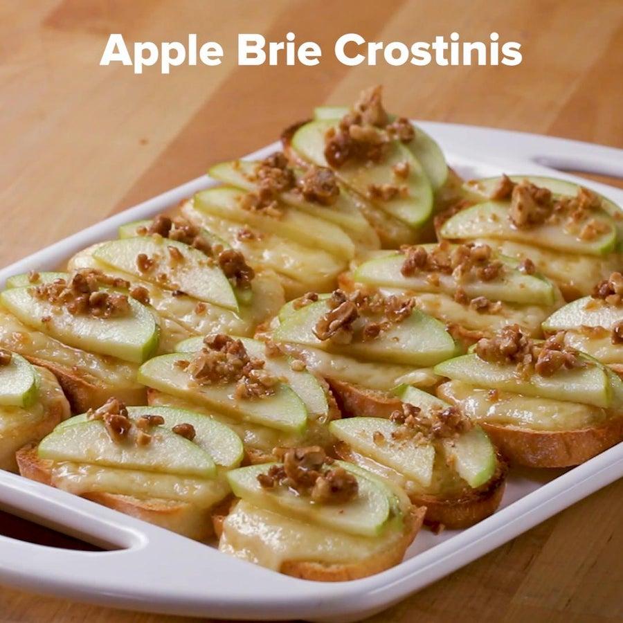 Apple Brie Crostinis