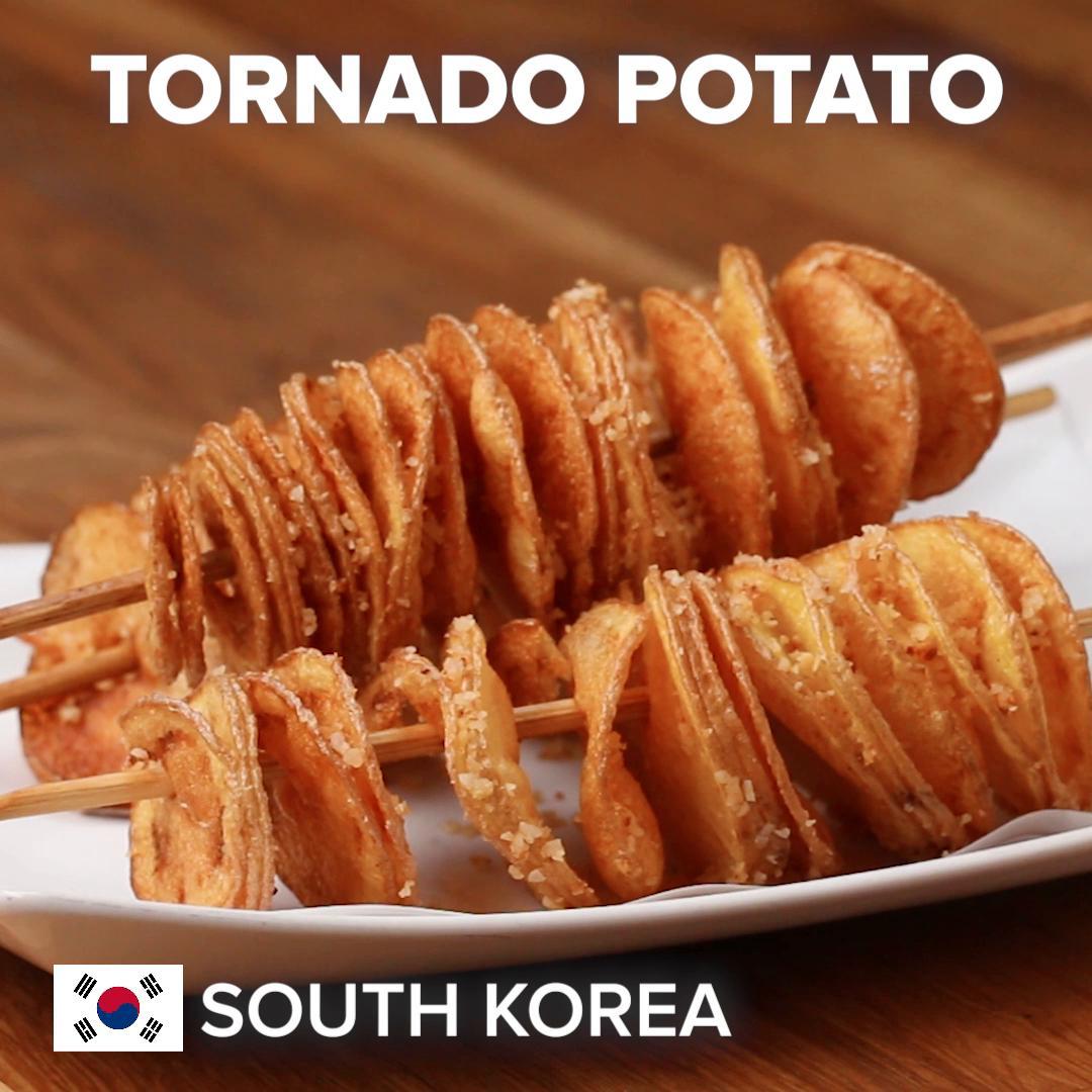 Korean Tornado Potatoes Recipe by Tasty