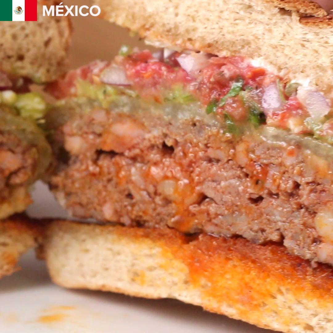 Znalezione obrazy dla zapytania Mexican tasty 4 burgers around the world