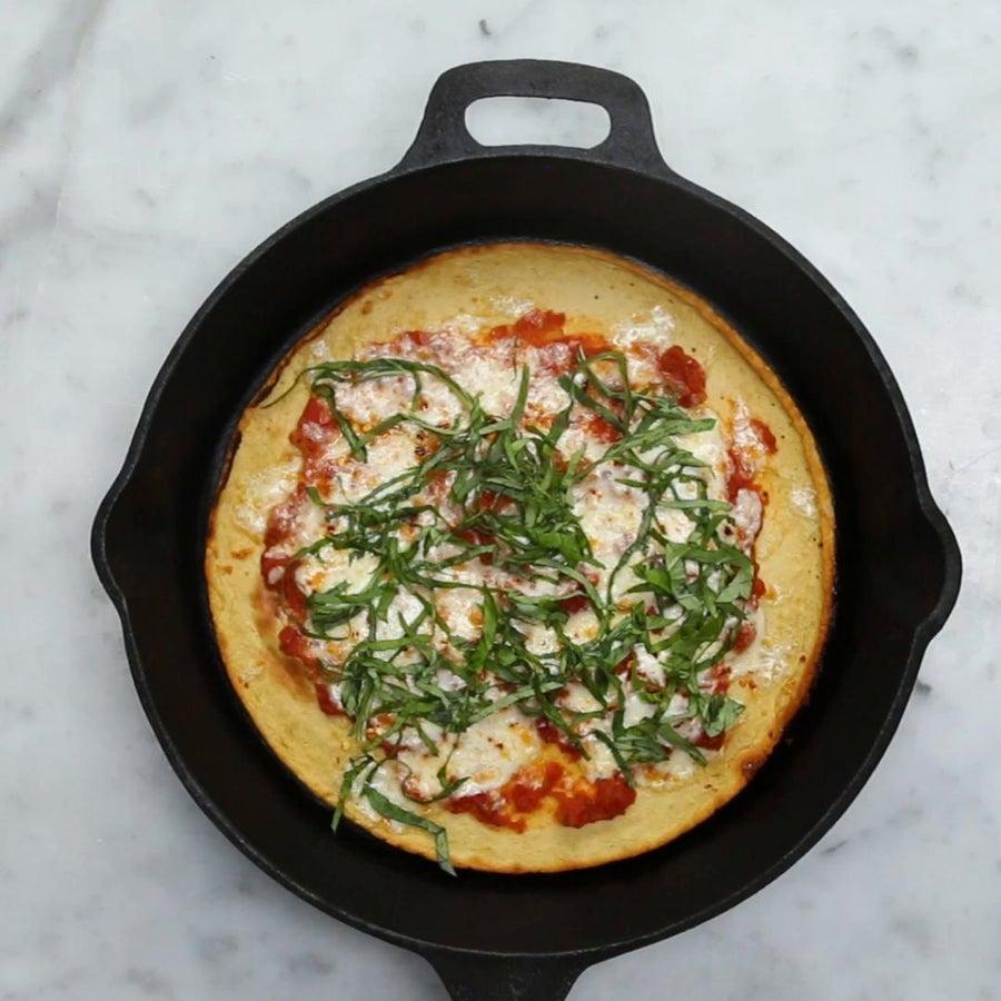 Savory Gluten-Free Chickpea Pizza Pancake