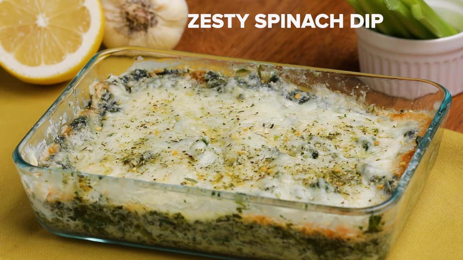 Zesty Spinach Dip Recipe By Tasty