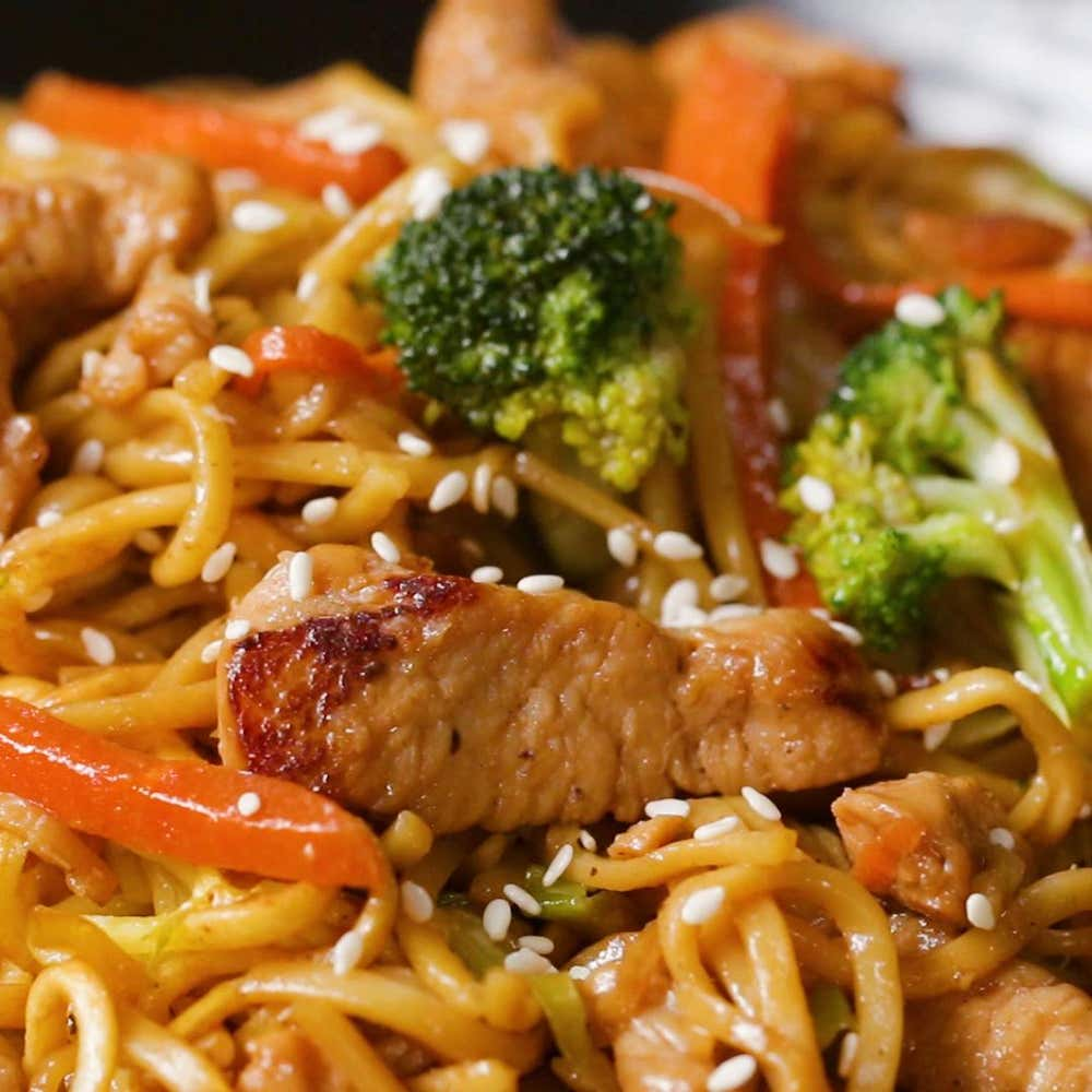 Chicken teriyaki chow mein recipe by tasty by claire nolan from the video chow mein 4 ways forumfinder Images