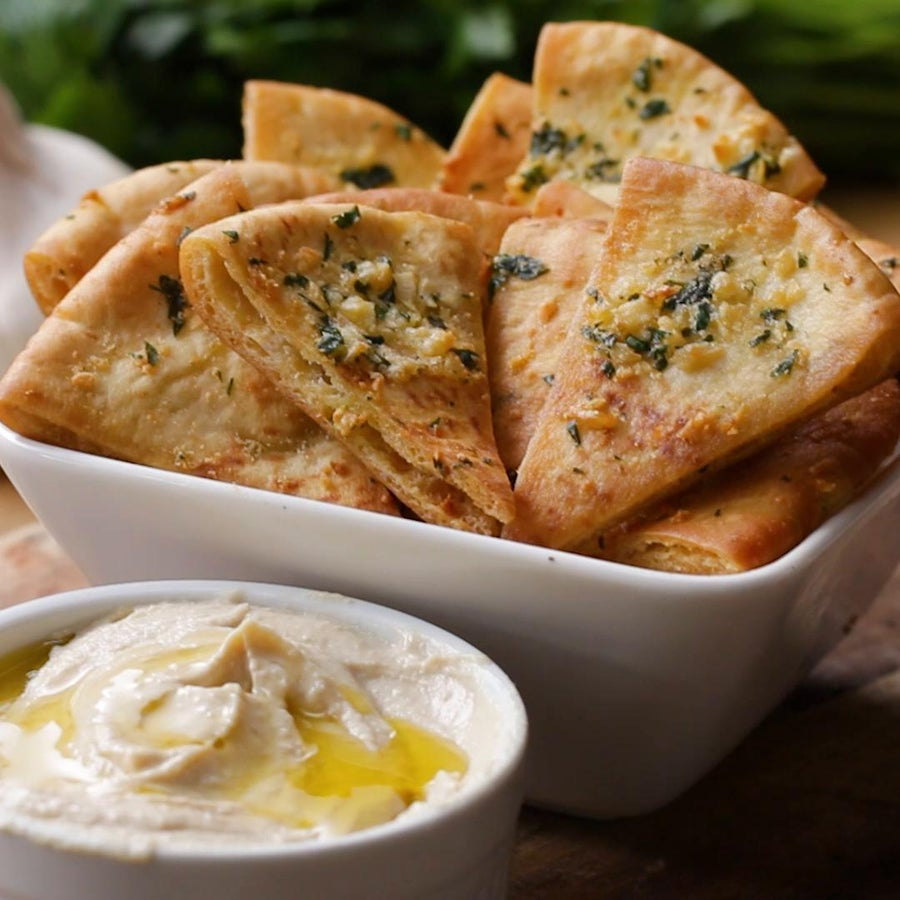 Garlic Parmesan And Herb Pita Chips