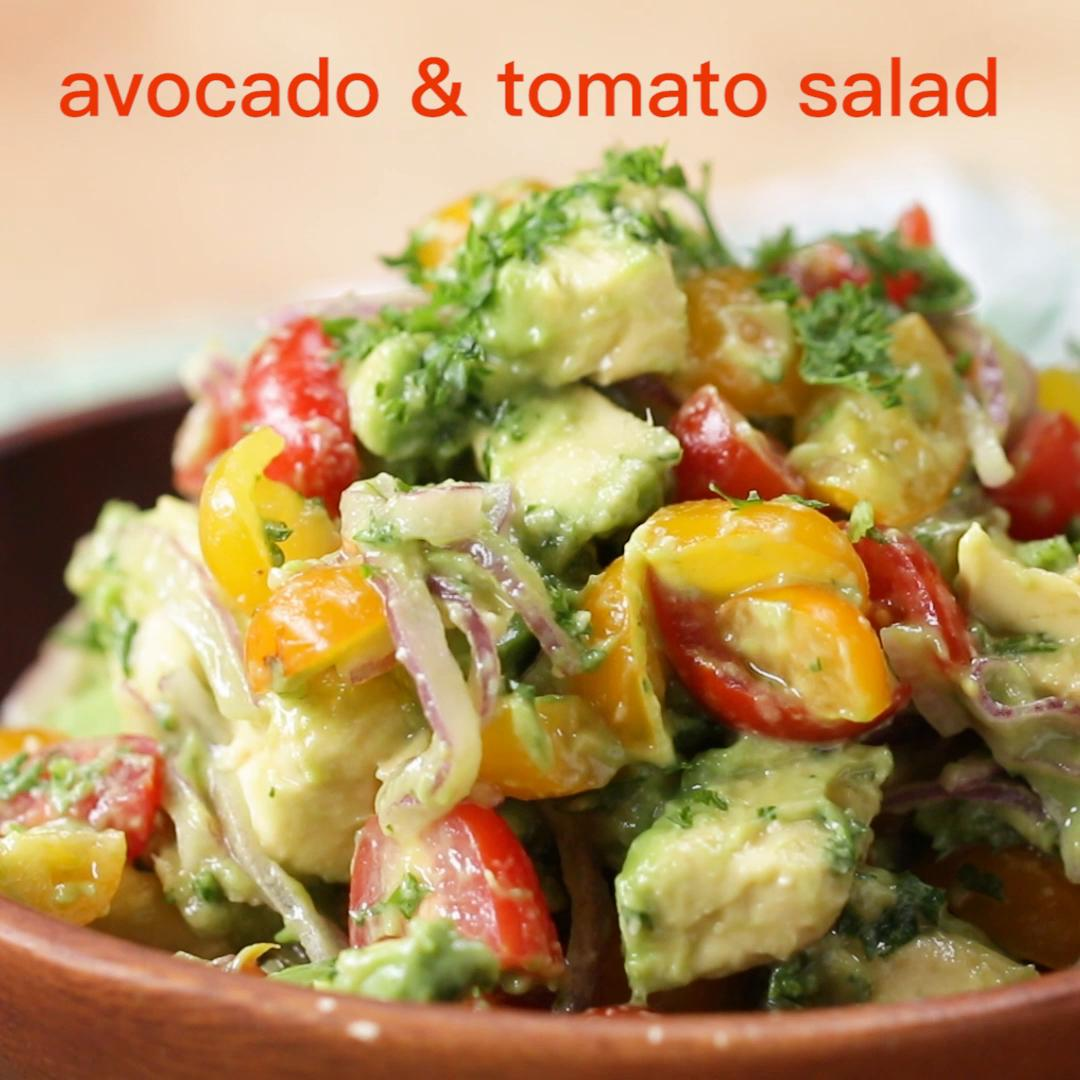 Avocado And Tomato Salad Recipe by Tasty image