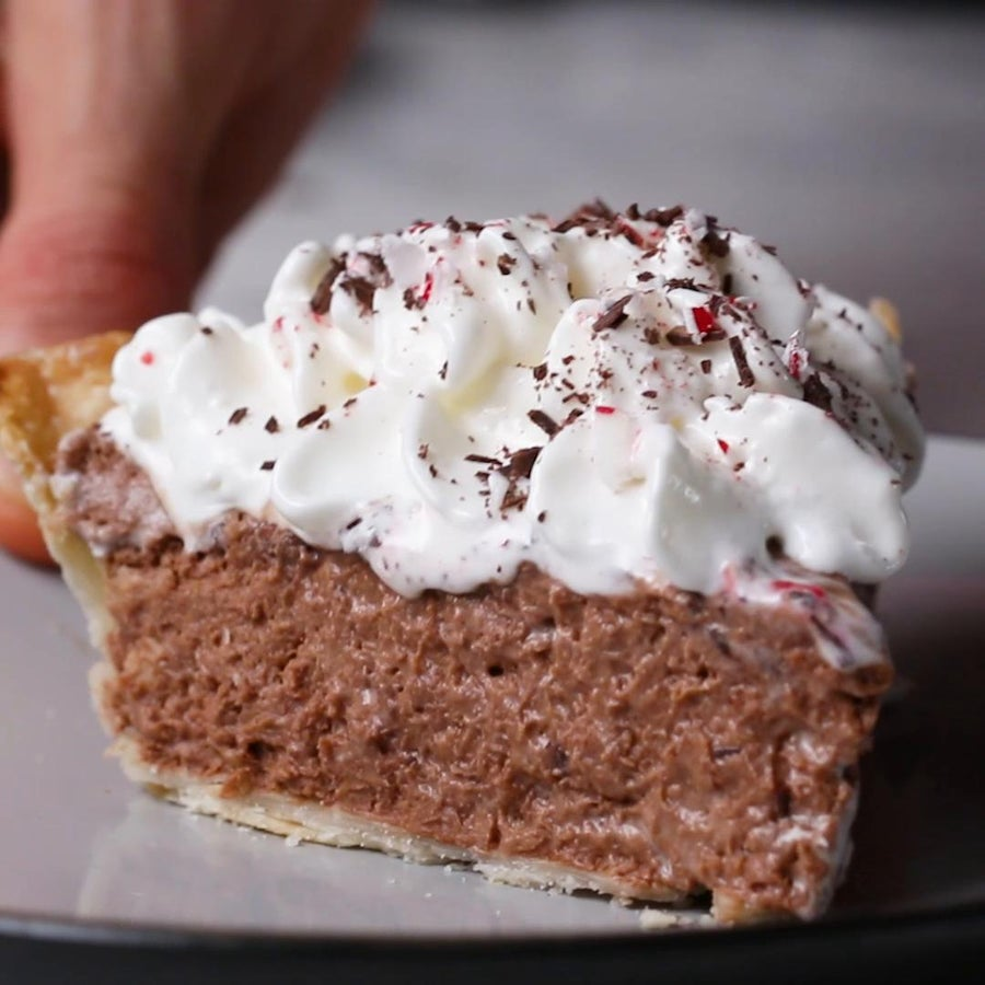 Chocolate Peppermint Silk Pie