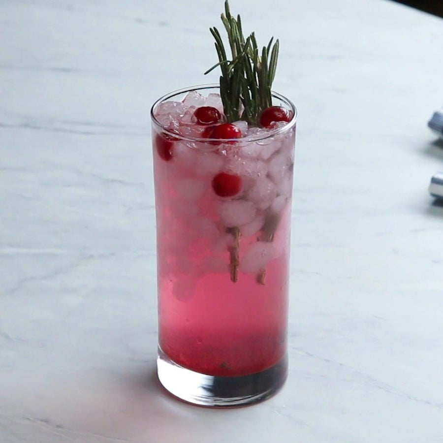 Cranberry Rosemary Herb Soda