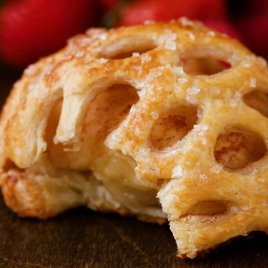 Caged Apple Puff Pastry