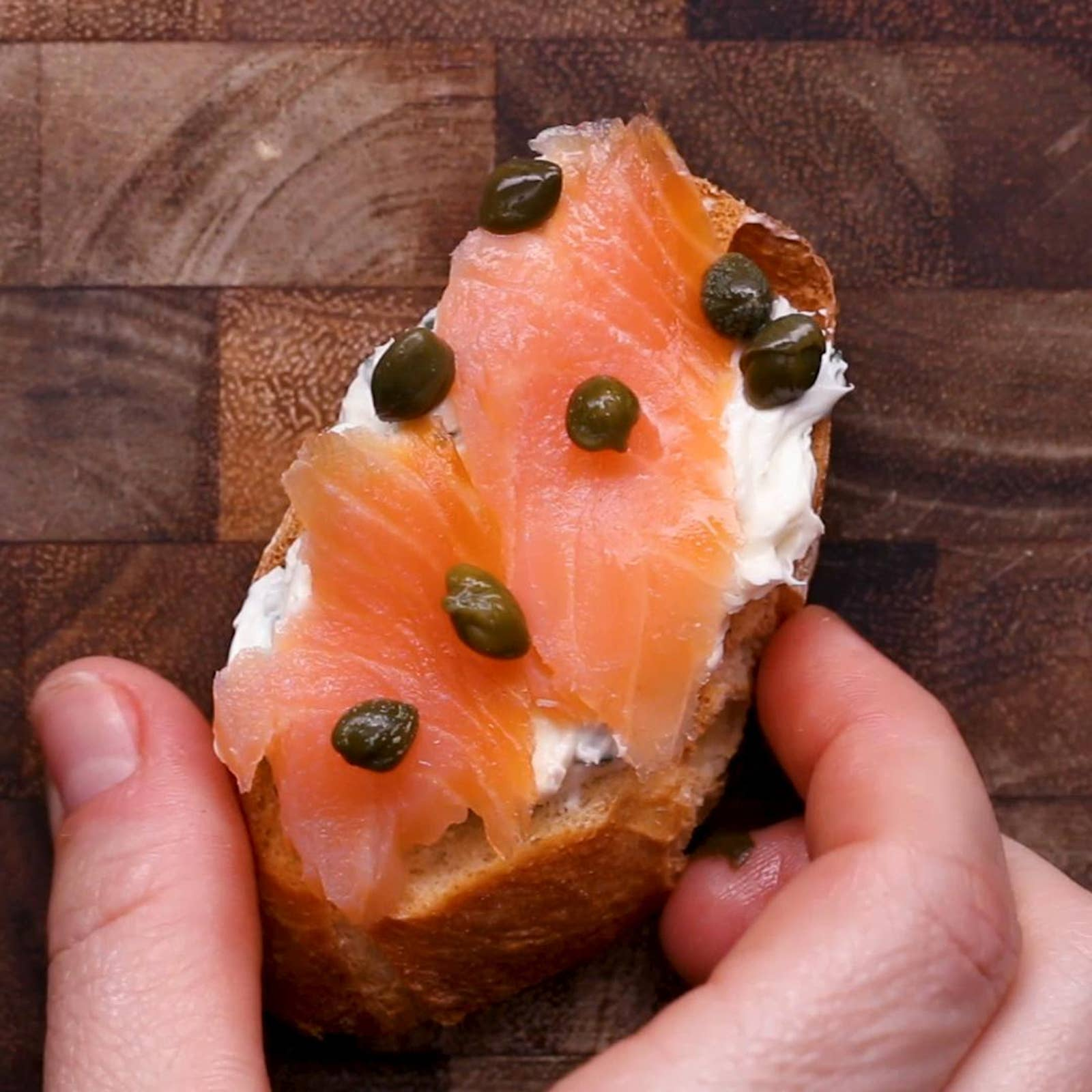 Lox And Cream Cheese Crostini