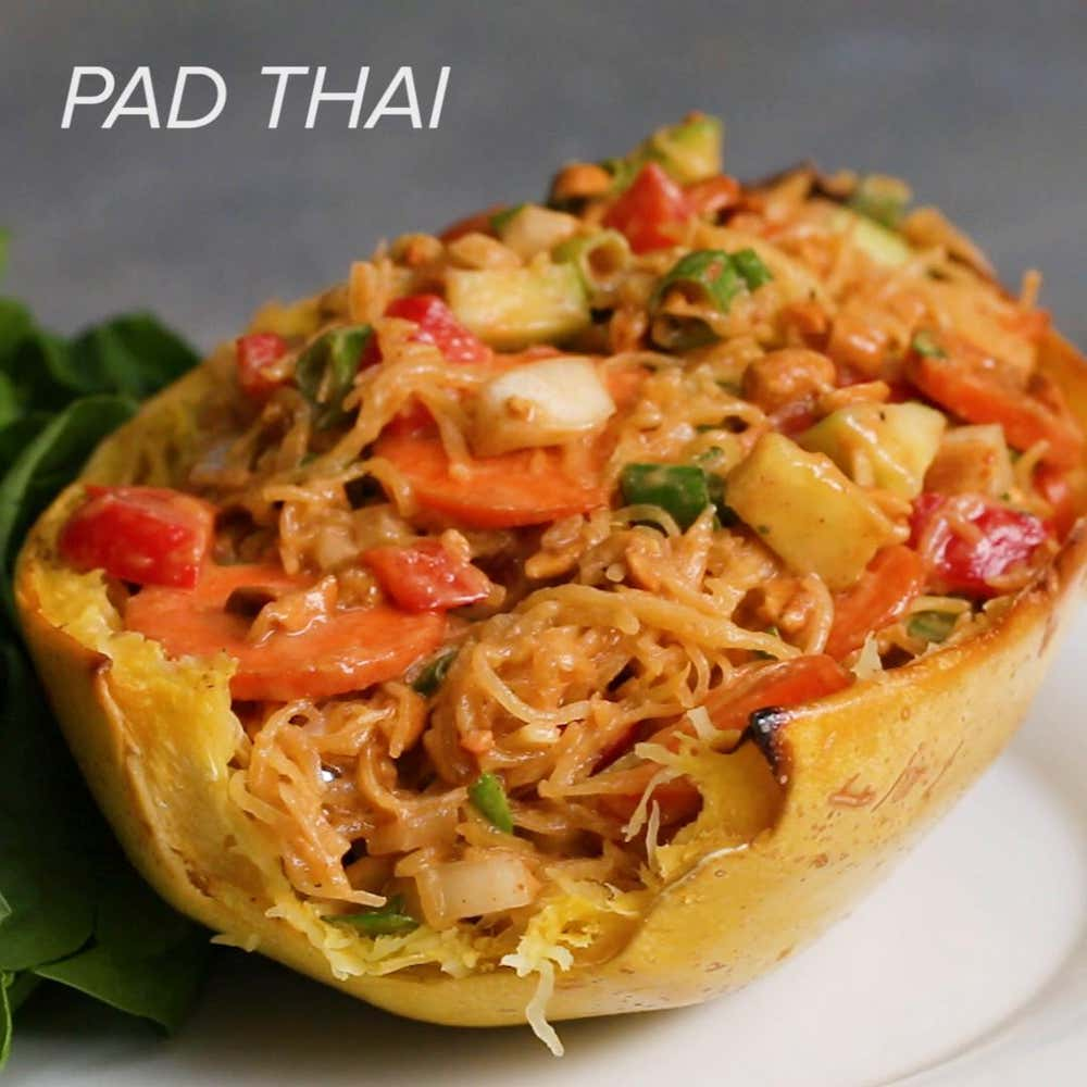 Pad Thai Spaghetti Squash Recipe By Tasty